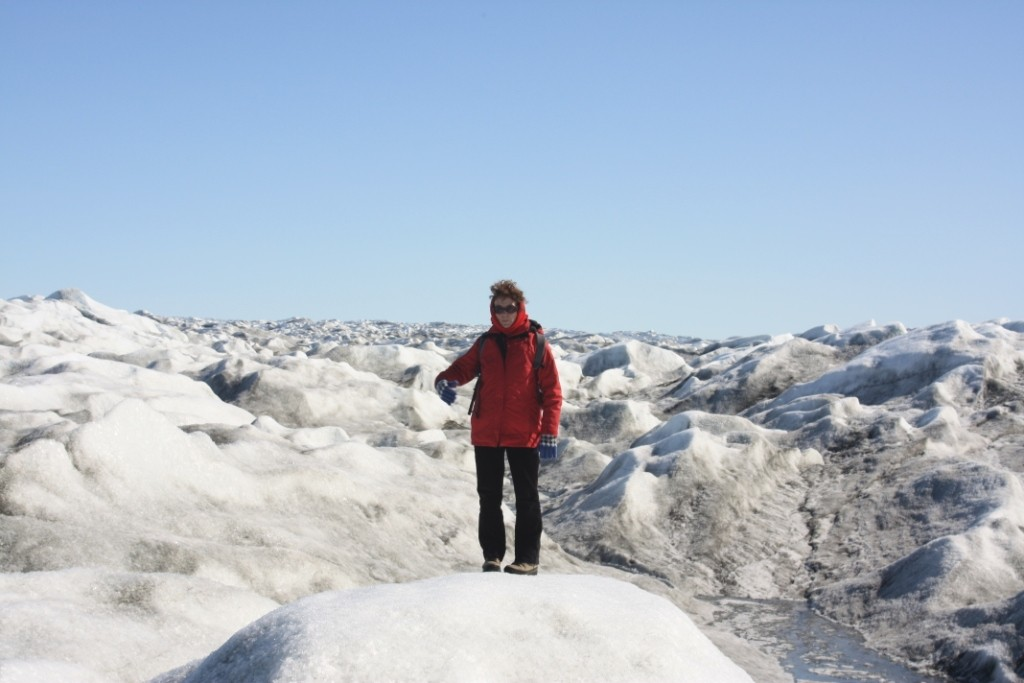 Greenland ice: taking the measure (Pic: I.Quaile)
