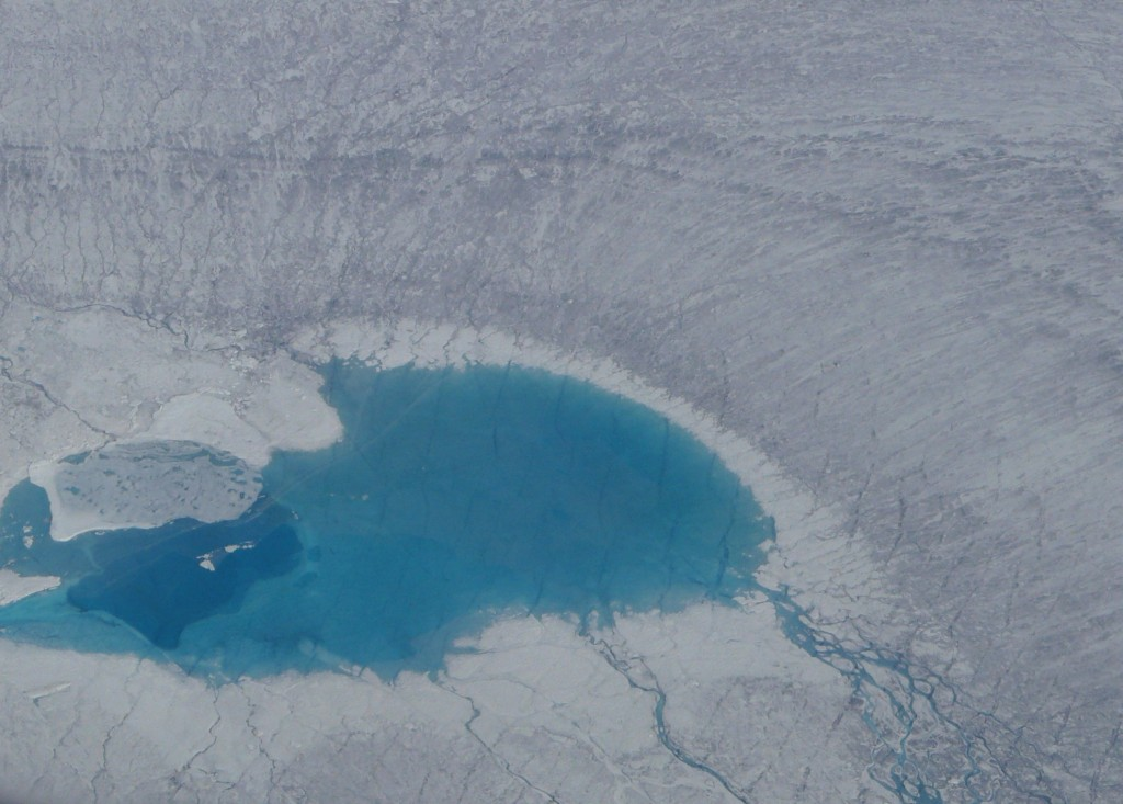 Meltpool on the Greenland ice sheet (Pic: I.Quaile)