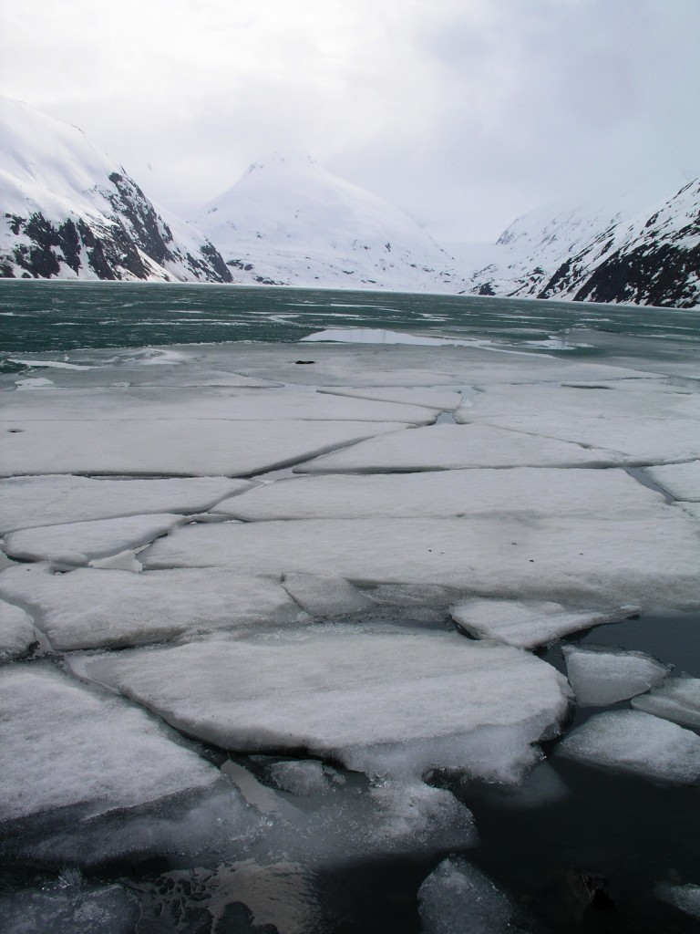 Warmer water, melting ice, warmer water...melting ice (I.Quaile, Alaska)