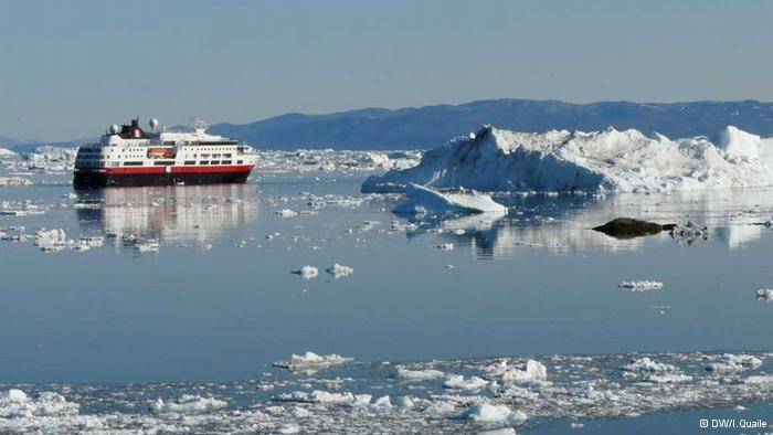 I photographed this ship amongst the icebergs of Ilulissat in 2009