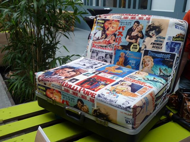 Prizewinning recycled suitcase armchair by Gabriela Saykova