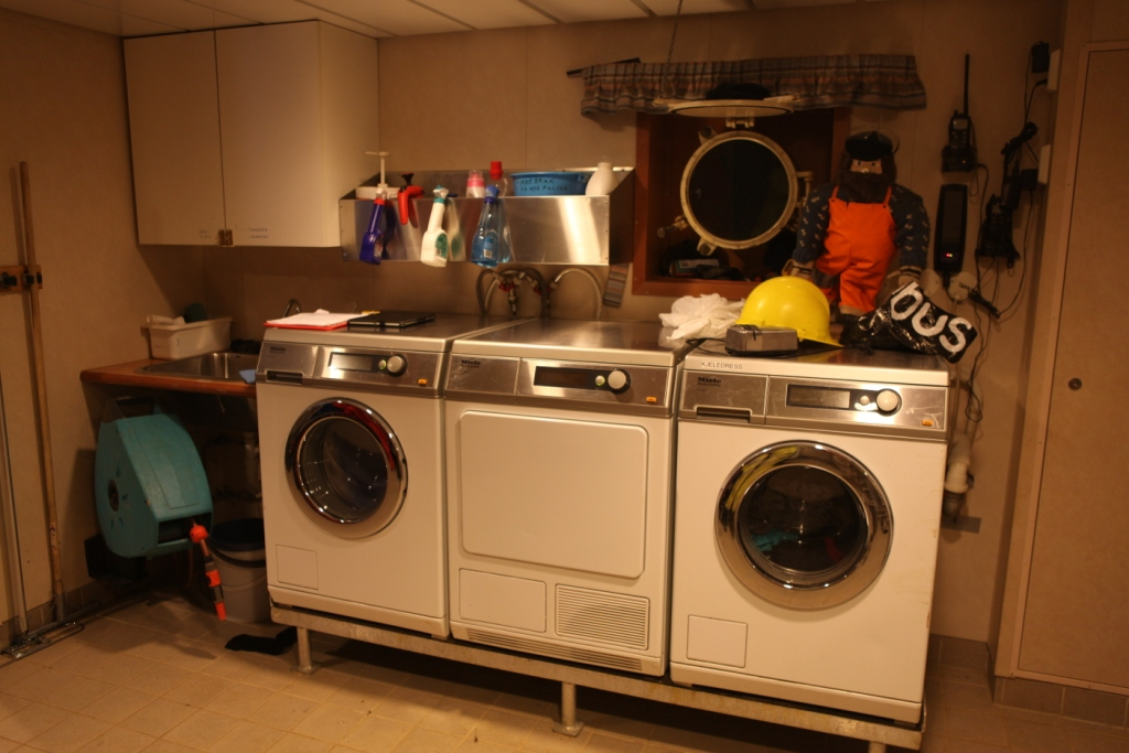 The washing machines on the Helmer Hanssen were doing overtime