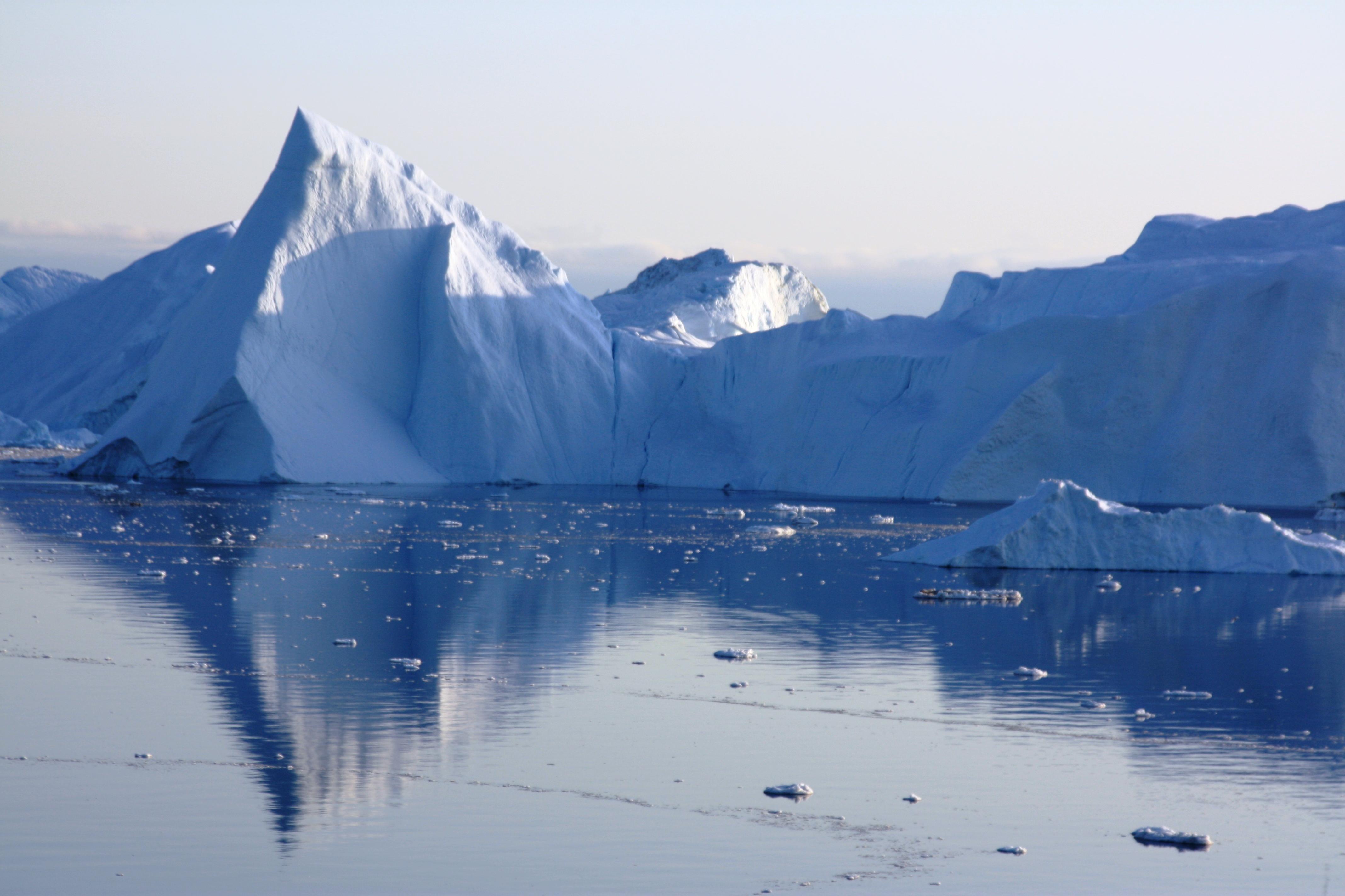 greenland ice blue