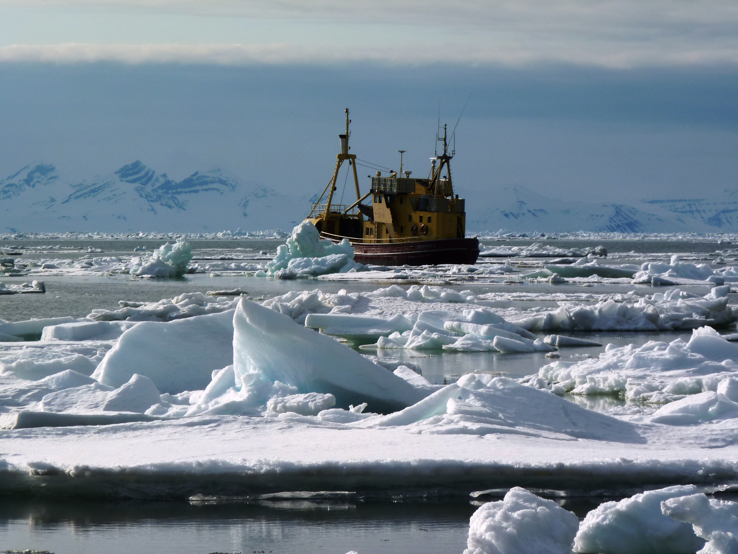 ice with ship