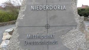 Gedenktafel am Mittelpunkt Deutschlands