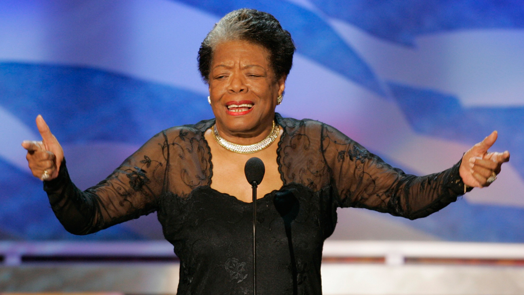 File photo of Poet Maya Angelou during second night of Democratic National Convention in Boston