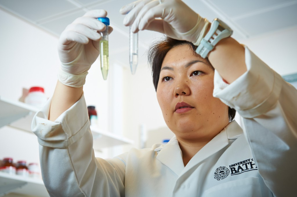 Dr Asel Sartbaeva, one of Central Asia's first internationally-recognised female scientists, is busy developing a technology through which life-saving vaccines can be transported at minimal cost. (© WFS)