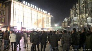 The scene in front of Cologne central station