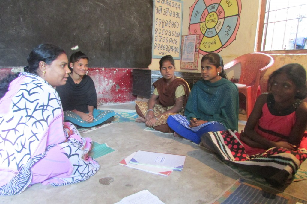 "Having the ""protection"" of information and awareness on HIV and Sexually Transmitted Diseases (STDs) can make a big difference to their already vulnerable lives of teenagers living in slums dotting Bhubaneswar, Odisha. (Credit: Rakhi Ghosh\WFS)"