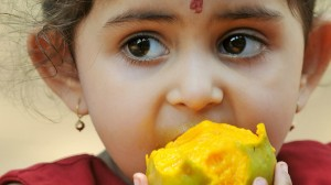 An Indian girl © picture-alliance/dpa