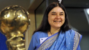 Maneka Gandhi in 2008 © Dominique Faget/AFP/Getty Images