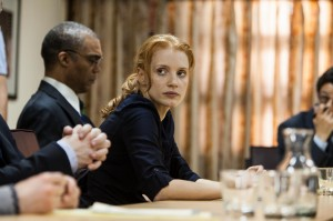 "Movies like Zero Dark Thirty that saw Jessica Chastain playing the lead are rare in Hollywood where according to Geena Davis, ""less than a quarter of the on-screen global workforce is female."""