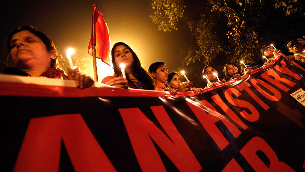 First anniversary of the Delhi gang rape, in New Delhi December 16, 2013 (Copyright: Reuters)