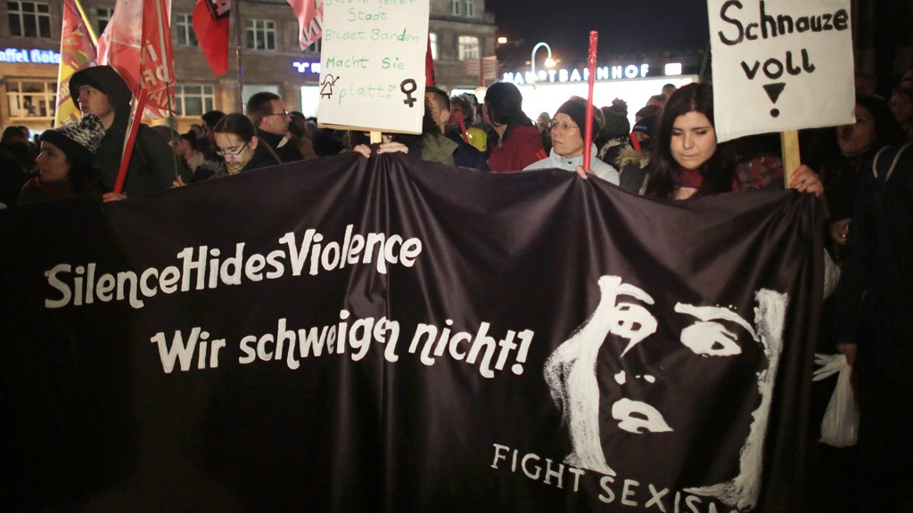 Demonstration against sexism in Cologne, January 5 2016 © picture-alliance/dpa/O. Berg