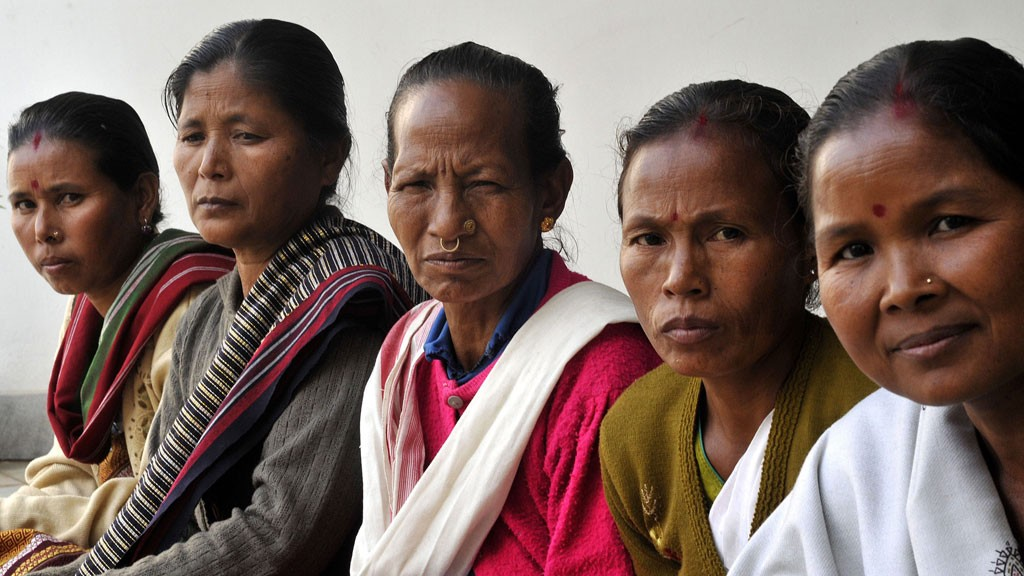 Indian Witch Hunting victims (L-R) Sugani Rabha, Lakshmi Rabha, Khedai Rabha, Lansun Rabha and Sampui Rabha sharing their ordeals at a state level consultation on 'Witch hunting' organisaed by Asam Mahila Samata Samiti on the occasion of International Human Rights Day in Guwahati city, northeast India, 10 December 2010. © picture-alliance/dpa