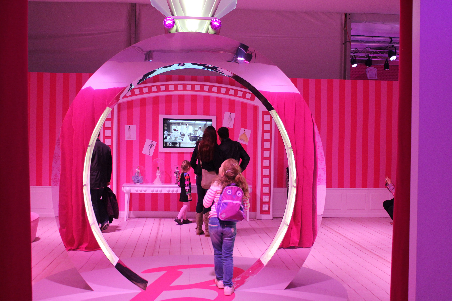 Barbie's pink mansion